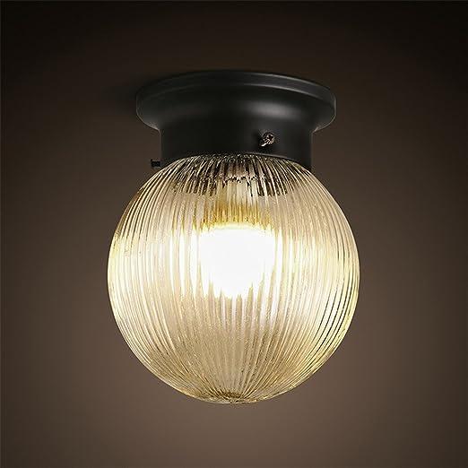 Larsure Estilo Vintage Modern Iluminación de techo Plafones bombilla LED lámpara de techo corredor circular entrada
