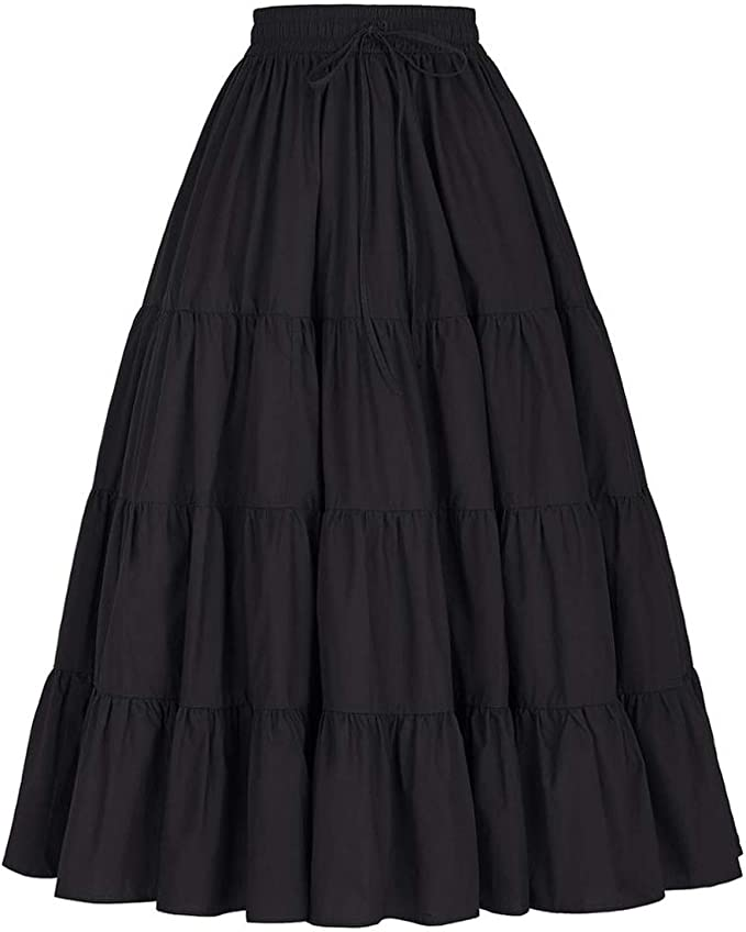 Faldas largas Otoño Invierno Mujeres Vintage 50S 60S Falda Retro ...