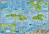 U.S Virgin Islands USVI Dive Map Laminated Poster By Franko Maps