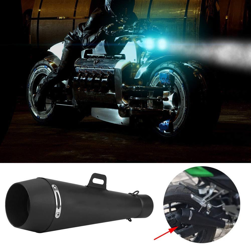 silenciador de escape inoxidable del cromo de 51mm Silenciador del tubo de la cola de escape de la motocicleta
