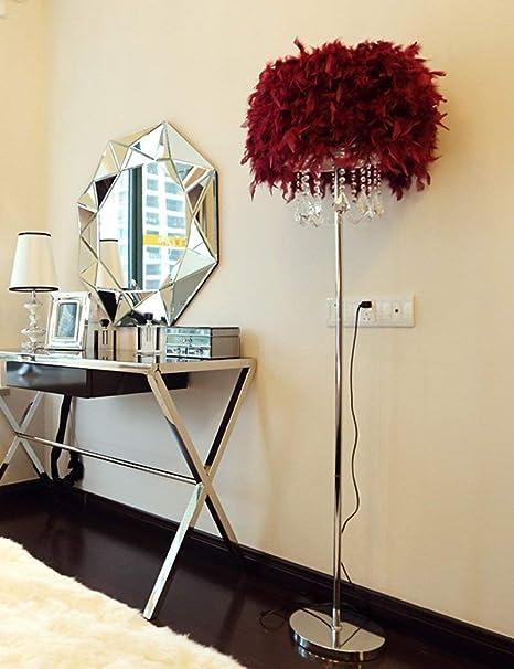 XHX Lámpara de pie, adornos de cristal de hierro Simplicidad ...