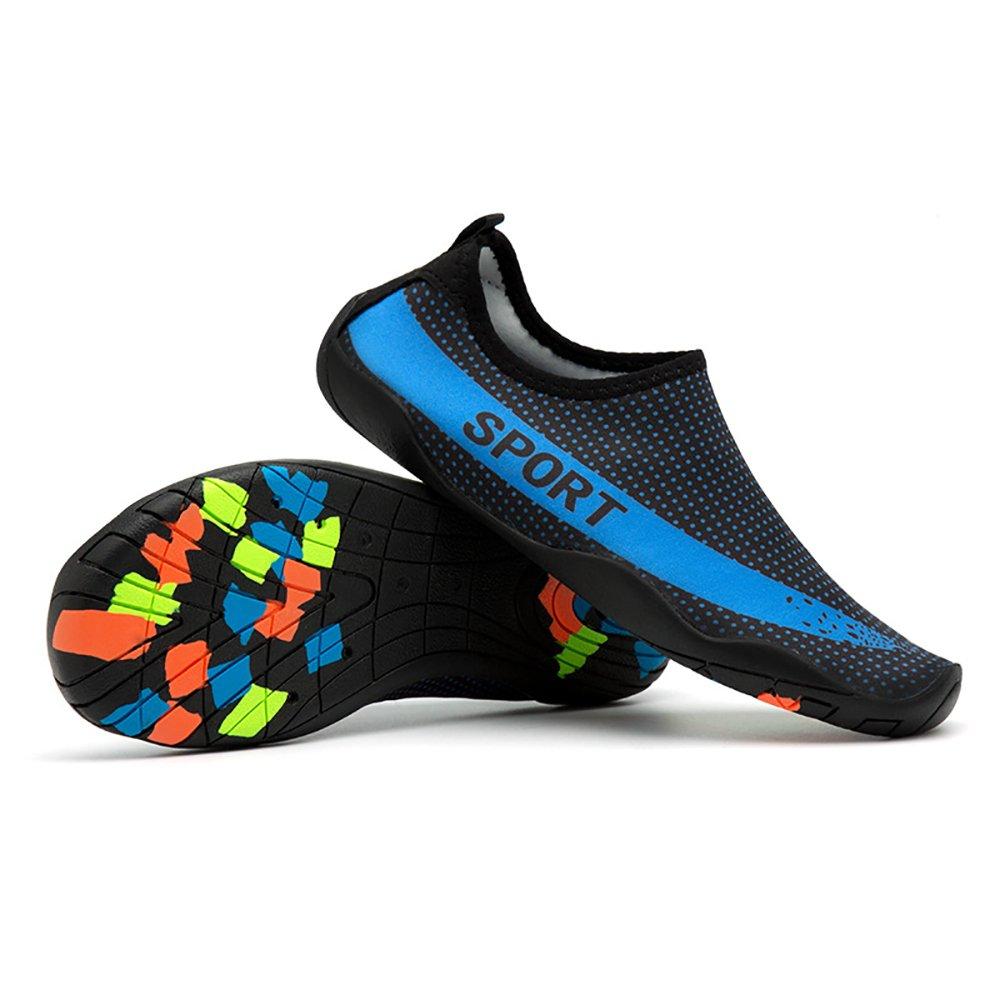 Zegoo Facture Lightweight Aqua Water Shoes Women's Quick Drying Aqua Water Shoes B07CLWN8CR 7 B(M)US Women/6 D(M) Men= 38=9.1''foot|Black&blue-2