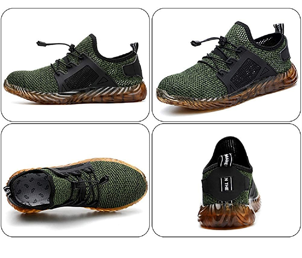 TQGOLD Safety Shoes for Men Steel Toe Size 5-14 Work Shoes for Men and Women Composite Toe Footwear Industrial and Construction Shoes Summer Breathable Lightweight Sneakers