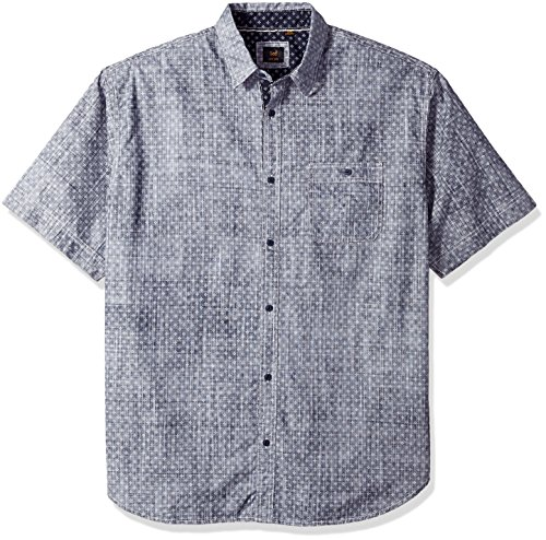 lee-mens-big-and-tall-glen-print-shirt-navy-3x