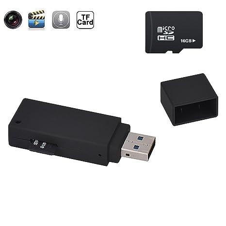 matecam 1080P Mini espía USB disco oculta cámara portátil Mini HD DVR espía Cam de Grabadora