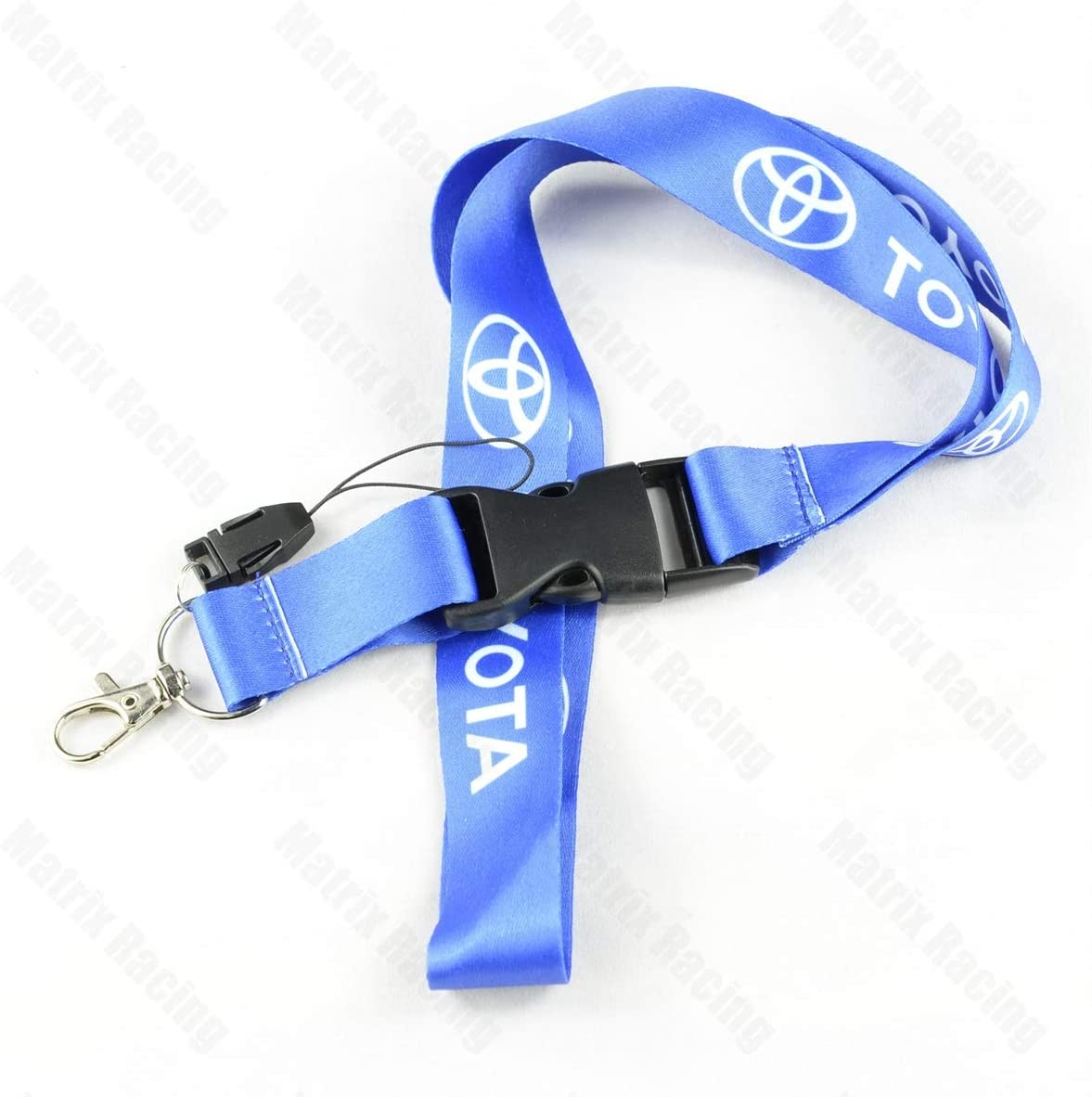 Blue Hedges Racing JDM Style Cellphone Lanyard Racing Car Keychain ID Card Neck Strap for Toyota Cars Camry Corolla RAV4 Highlander Prius Sienna 4 Colors