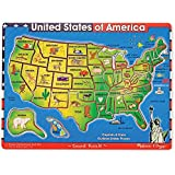Melissa & Doug Deluxe Wooden USA Map Sound Puzzle