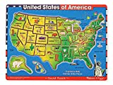 Melissa & Doug USA Map Sound Puzzle - Wooden Puzzle With Sound Effects (40 pcs)