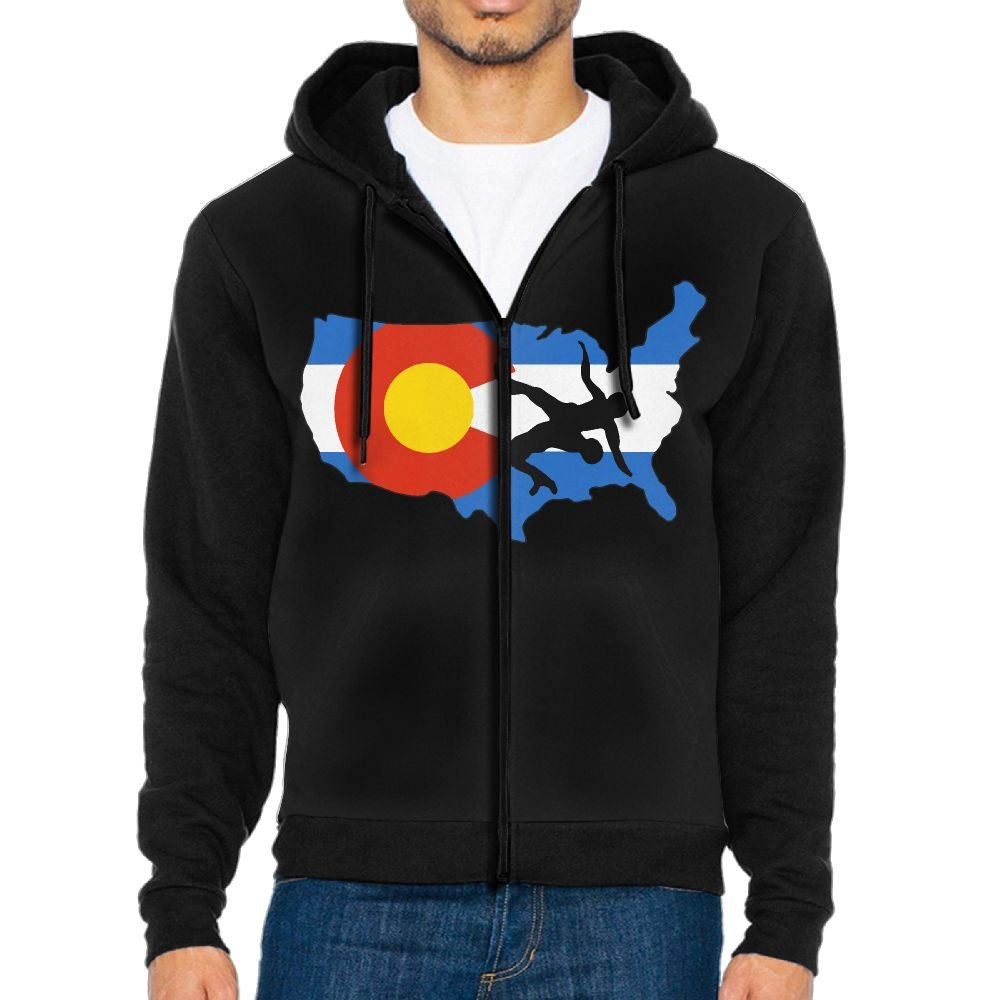 Okb-7 Men's Zip-Up Hoodie Sweatshirt Colorado USA Wrestling Fleece Hoodie Jackets