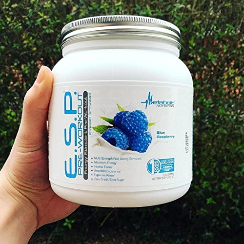 Metabolic Nutrition, ESP, Energy and Endurance Stimulating Pre Workout, Pre Intra Workout, High Energy and Mental Focus, Stimulating Workout Supplement, Blue Raspberry, 300 Grams (90 Servings) by Metabolic Nutrition (Image #6)