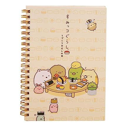 ZLJHH Kawaii Cartoon Cute Animals Coil Cuaderno Agenda ...