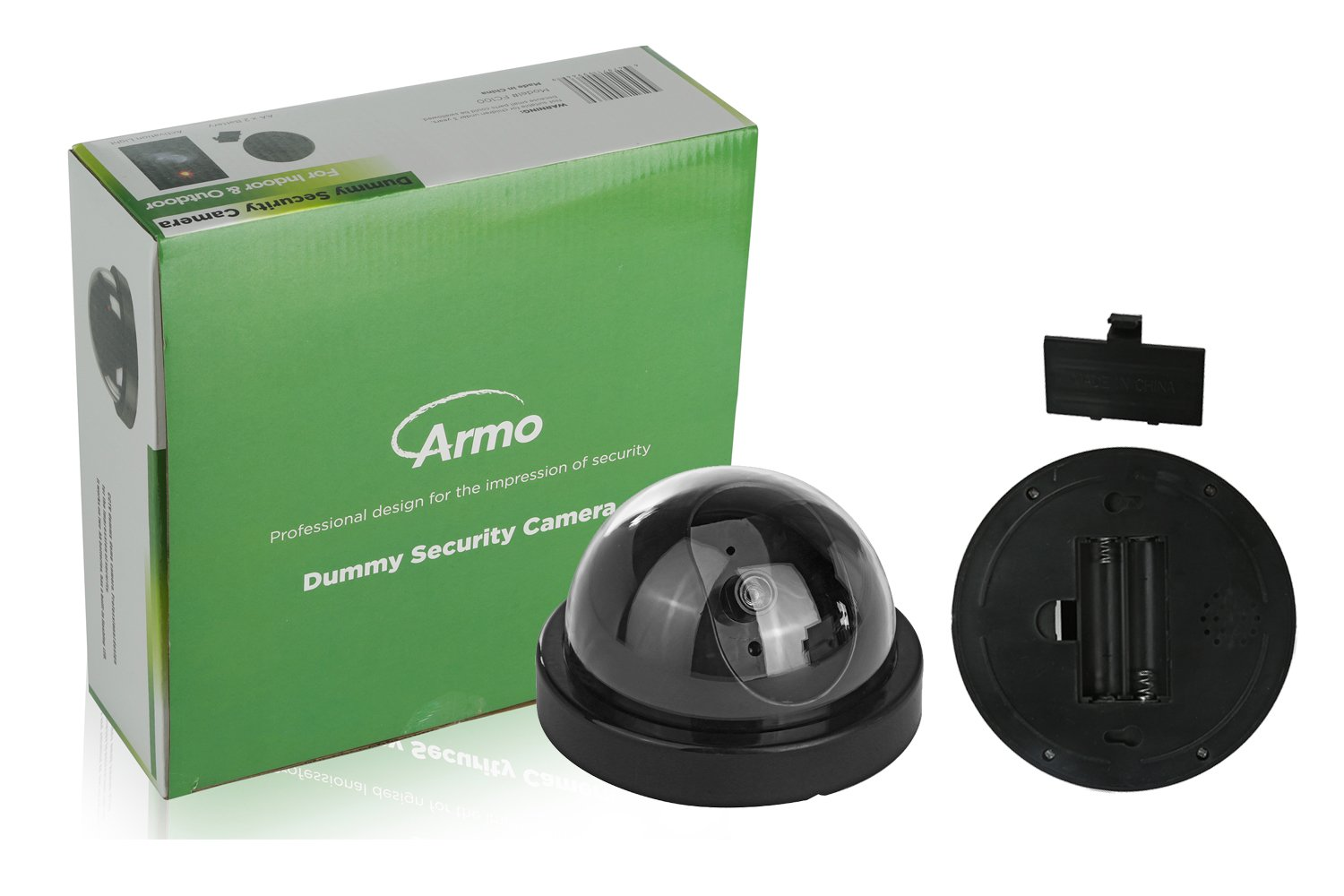 (4 Pack) Fake Dummy Security CCTV Dome Camera With Realistic Look Recording Flashing Red LED Light Indoor And Outdoor Use, For Homes & Business- By Armo by Armo (Image #3)