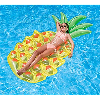 Summer Palms Pineapple Lounge Pool Float, 94 x 48.5 Inch (Pack of 1): Sports & Outdoors