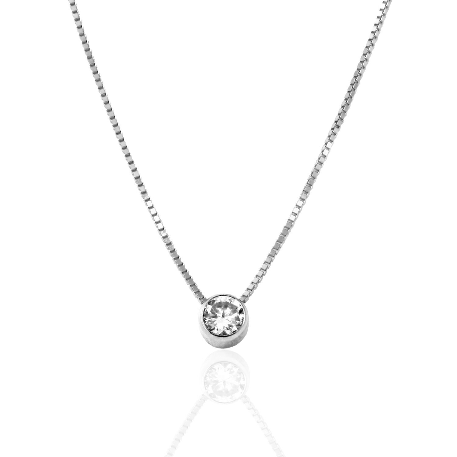 silver and sterling pk bezel set cz jewelry bling beauties necklace earrings