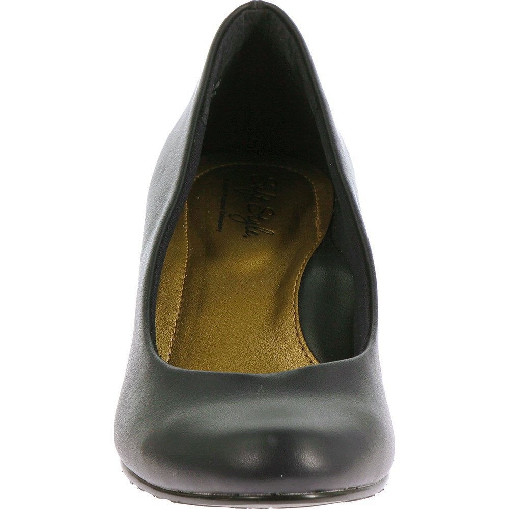 Soft Style Hush Puppies Women's Gail Dress Pump, Navy Leather, 9.5 W US by Soft Style (Image #5)