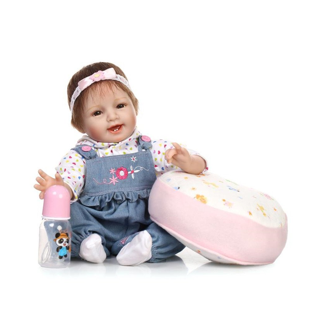 Lifelike Rebornベビー人形ソフトSiliconeビニールLovely Baby Cute Girl人形誕生日ギフトBoy Girl Toy For Ages 3 +22インチ55 cm   B07BVRHG9M