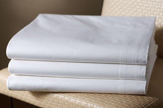 Drap plat, drap, massage boue lisse dans différentes tailles, Coton, blanc, 240 x 290 cm