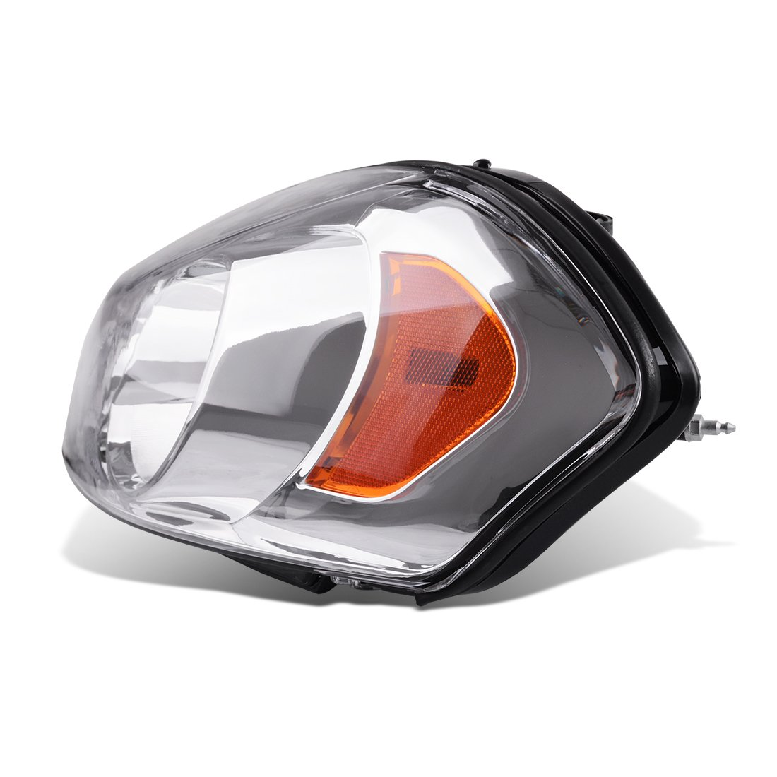 Driver and Passenger Side Headlight Assembly for 2006-2013 Chevy Impala 06 07 Chevy Monte Carlo Replacement Headlamp Black Housing Amber Reflector Clear Lens