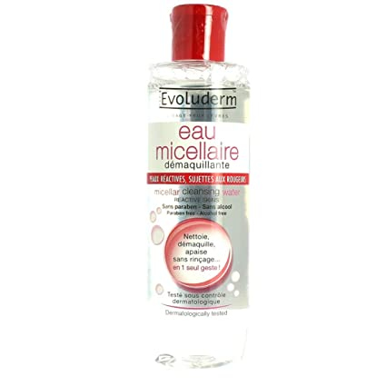 Evoluderm - Agua micelar para pieles reactivas propensas a las rojeces, ...