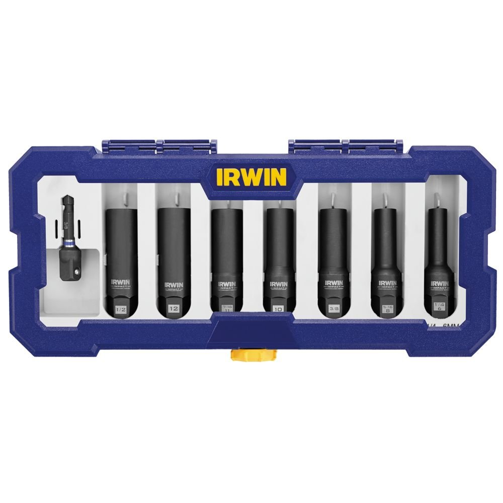 Bolt-Grip 1859151 Irwin Tools Impact Performance Series Bolt Grip Deep Well Bolt Extractor, 8-Piece