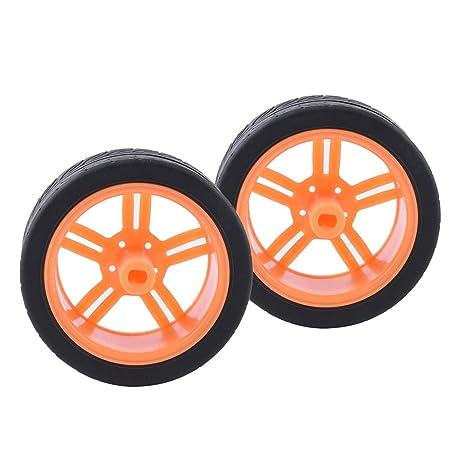 Homyl 2x Ruedas de Neumático de Coche Juguete DIY - Elija Colores Accesorios de Juguete de