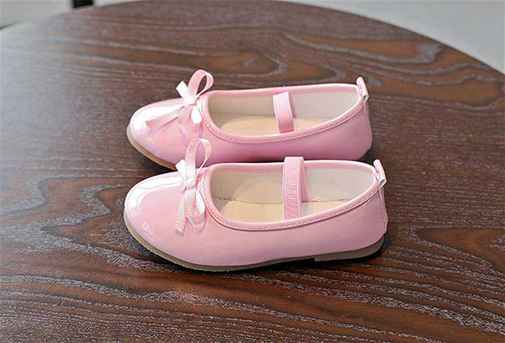 FORTUN Cute Girls Shoes Princess Shoes Flat Shoes Dress Shoes Mary Jane Shoes