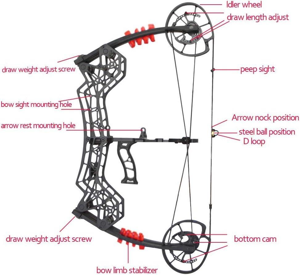 Archery Bow Sight Arrow rest,Bow Stabiliser peep suits compound /& Recurve Bow