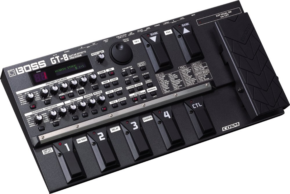 Amazon.com: Boss GT-8 Guitar Multi Effects Processor: Musical Instruments
