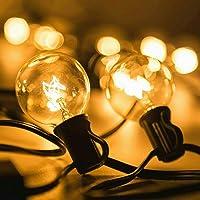 Guirnalda Luces para patio,Guirnalda de luces,25 Bombillas 7.65 Metros Guirnalda de luces,Guirnalda bombillas exterior…