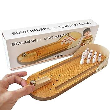 6248c29f27240 Naisidier 1pc Mini-Bowling-Spiel Mini Wooden Desktop-Bowling-Spiel Mini  Tabletop