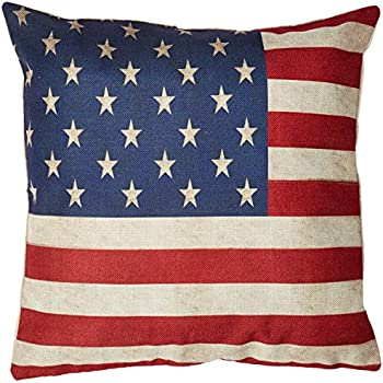 throw pillows at walmart cotton linen square inches us flag decorative pillow case cushion cover for couch amazon sofa ideas