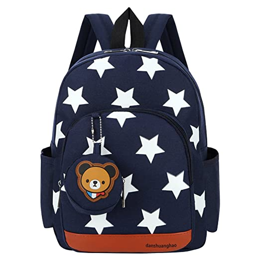 Vox Preschool Bag Toddler Backpack for Boys Girls Little Kids Cartoon Star  Backpack for Preschooler, 5d390391fe