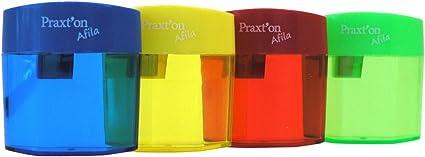 Sacapuntas PRAXTON Plástico Uso Sencillo Con Depósito, Caja x20 Surtidos: Amazon.es: Oficina y papelería
