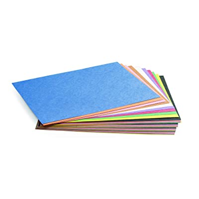 """Construction Paper Pack, 50 Sheets of 23 Assorted Colors, 9"""" x 12"""", Heavyweight Construction Paper, Crafts, Art, Kids Art, Painting, Coloring, Drawing, Creating, Arts and Crafts (Item # 9CPAS)"""