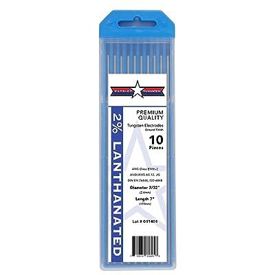 "2% Lanthanated TIG Welding Tungsten Electrodes 3/32"" x 7"" 10-Pack"