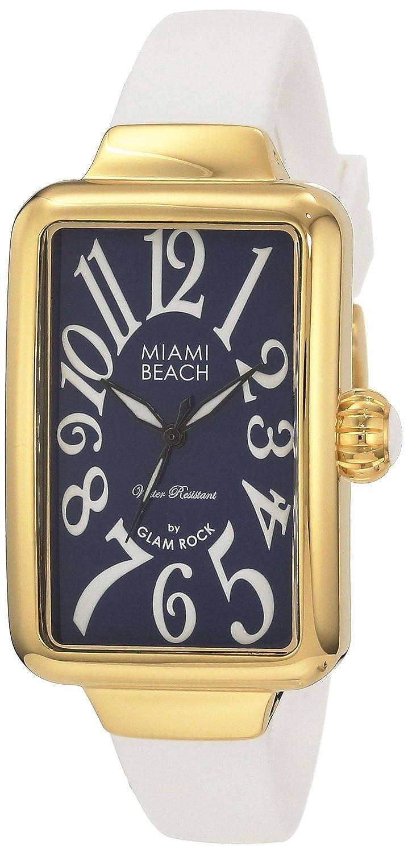 Glam Rock Damen-Armbanduhr Art Deco Collection Analog silikon weiss 0.96.2992