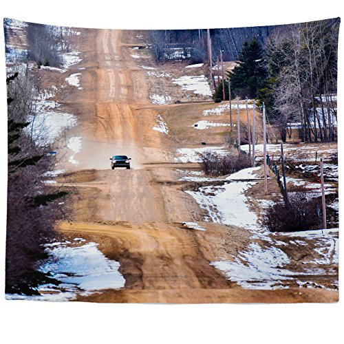 (Westlake Art - Wall Hanging Tapestry - Road Car - Photography Home Decor Living Room - 51x60in)