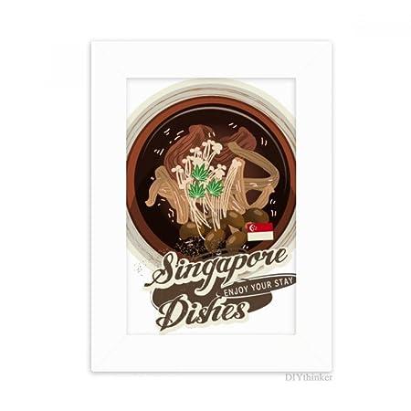 DIYthinker Tradicional Singapur Bak Kut Escritorio Marco de ...