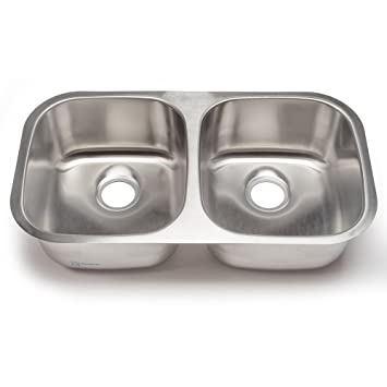 Amazon.com: Clark SS001 Clark Stainless Equal Double Bowl in Satin ...