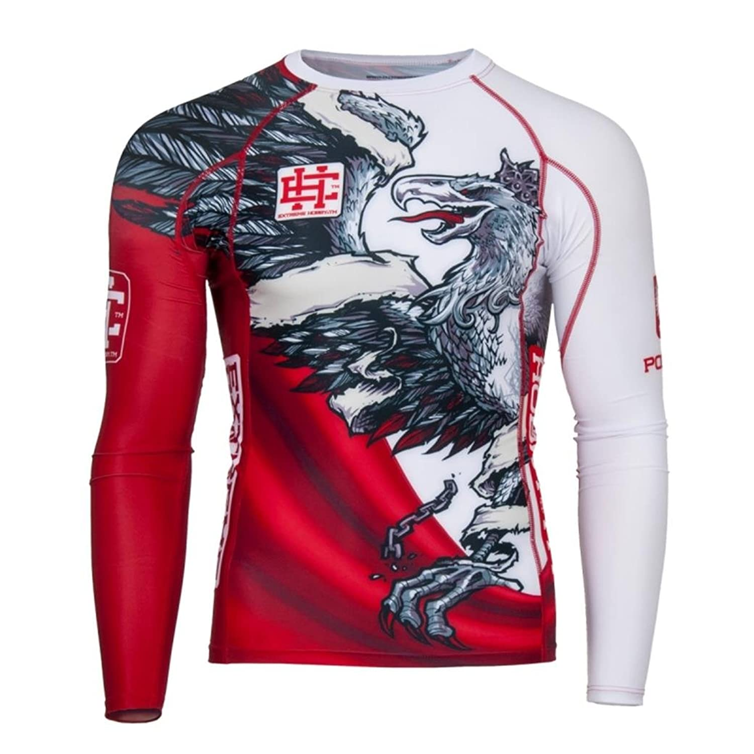 Image of Extreme Hobby White Eagle Poland Long Sleeve Rash Guard Top