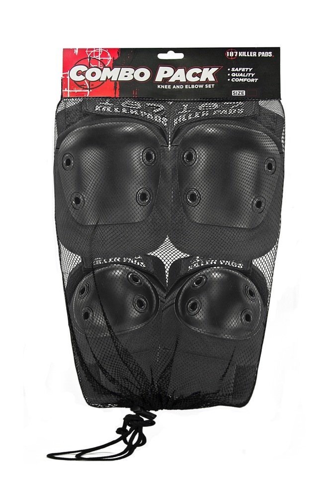 187 Killer Pads Knee & Elbow Combo Pack - Black - Large/X-Large