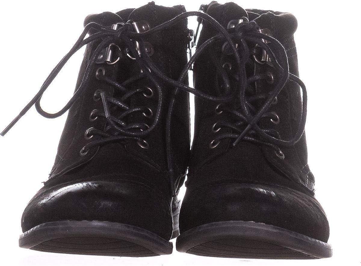 WHITE MOUNTAIN Womens Tifton Closed Toe Ankle Fashion Boots Nero