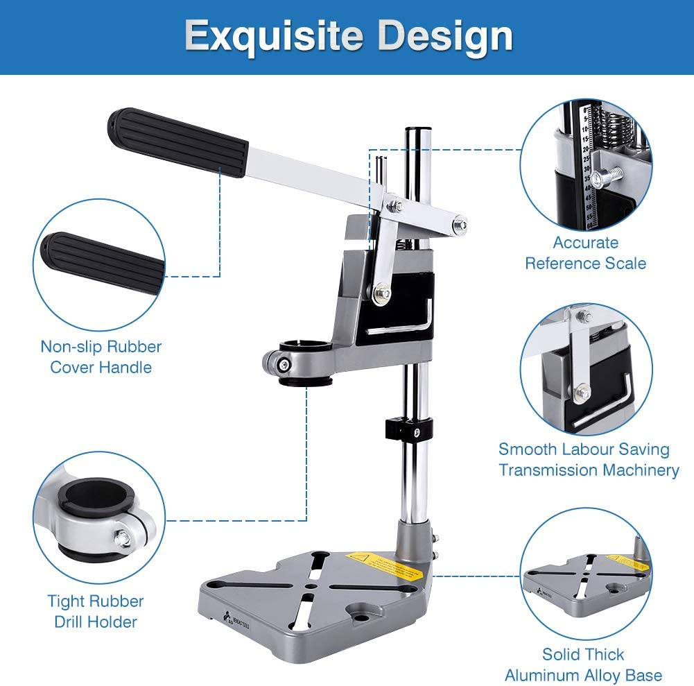 Workbench Repair Tool Hand Press Drill Holder with Clamp Base Frame for Electric Drills DIY Tool Press Holder Power Tools Greensen Universal Bench Drill Press Stand