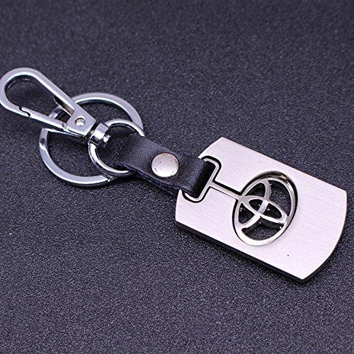 Toyota Chrome Emblem Keychain Keyring Logo Fashion Silver SilverTitanium Symbol Sign Badge Personalized Custom Logotipo Quality Metal Alloy Gift for Man Woman