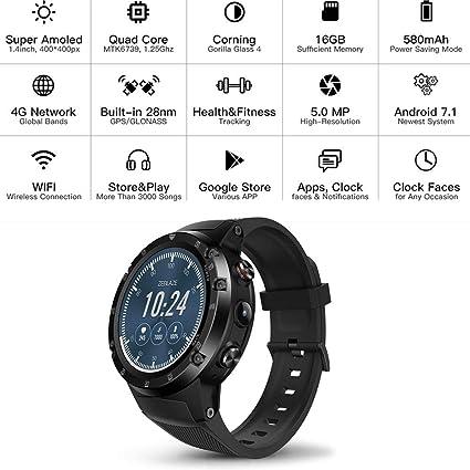Amazon.com: Elec tech Zeblaze Thor 4 Plus Mobile Smart Watch ...
