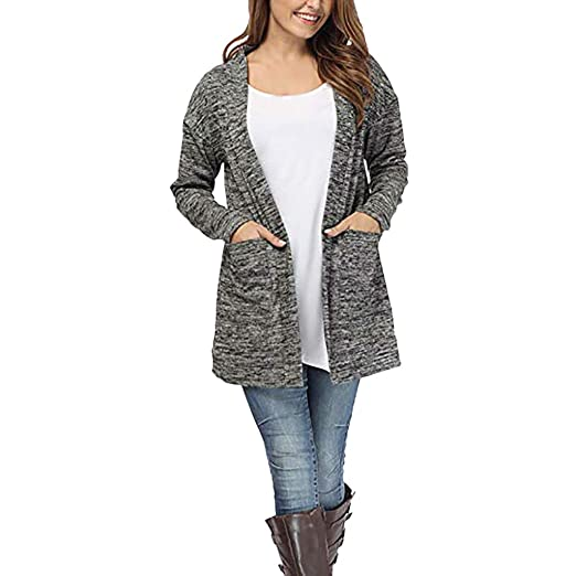 d24f5b86 Image Unavailable. Image not available for. Color: Kumike Fashion Womens Long  Sleeve Loose Long Cardigan Coat ...