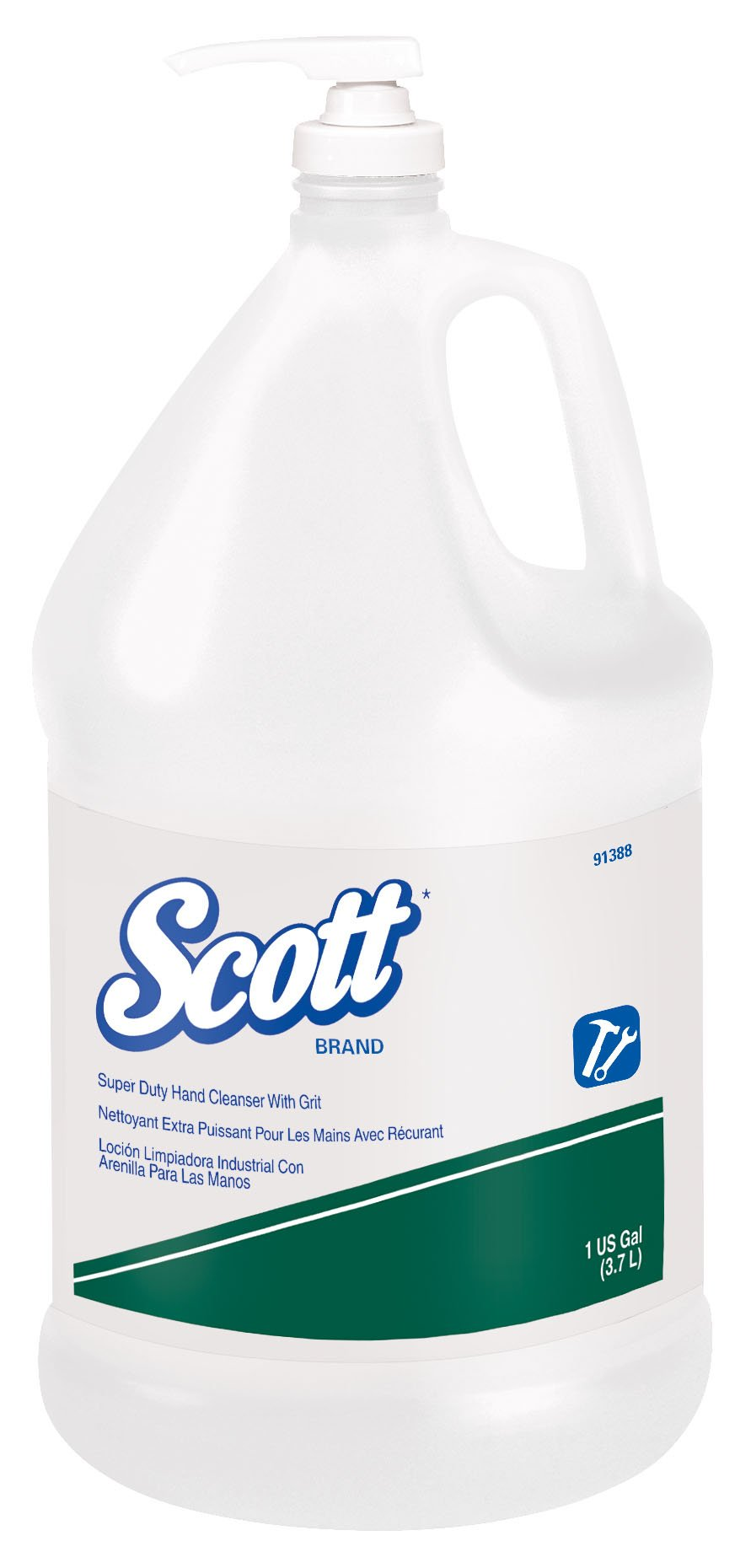 Scott Super Duty Grit Hand Cleanser (91388), Green, Citrus Scent, 1.0 Gallon, 4 Bottles / Case