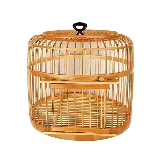 Casas para pájaros Bambú Jaula de pájaros Hecho a Mano Nido de ...
