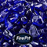 Deep Sea Blue - Fire Glass Dots for Indoor and Outdoor Fire Pits or Fireplaces | 10 Pounds | 3/8 Inch