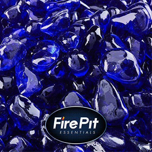 Deep Sea Blue - Fire Glass Dots for Indoor and Outdoor Fire Pits or Fireplaces | 10 Pounds | 3/8 Inch by Fire Pit Essentials